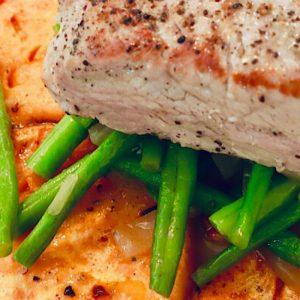 Wenn aus Liebe Leben wird - Lifestyle - Rezepte - Schweinefilet mit Süßkartoffelscheiben